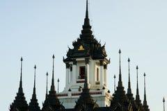 铁宫殿, Loha Prasat,曼谷,泰国。 免版税库存照片