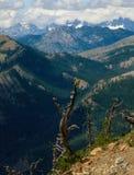 从铁峰顶,高山湖原野,喀斯喀特山脉 库存图片