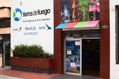 铁拉de开火旅行社和旅行社在基多,厄瓜多尔 库存照片