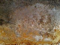 铁板材 难看的东西背景蓝色,老油漆纹理  免版税库存照片