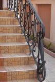 锻铁栏杆细节  免版税库存照片