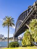 铁桥梁在悉尼 免版税库存图片