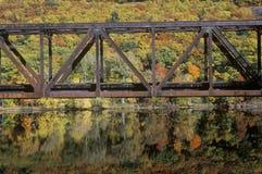 铁桥梁在Brattleboro,佛蒙特 免版税库存照片