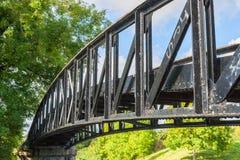 铁桥梁 免版税库存照片