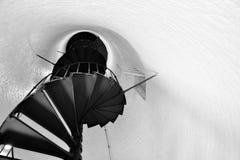 铁楼梯间 免版税库存照片