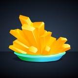 铁氰化物黄色水晶的钾 免版税库存照片