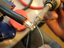 铁焊接 免版税库存照片