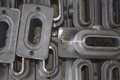 铁熔铸的零件 免版税库存照片