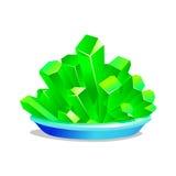 铁矾绿色水晶  库存照片