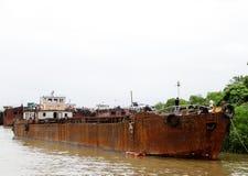 铁矿的运输的货船 免版税图库摄影