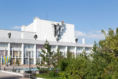 铁米尔套,哈萨克斯坦- 2016年8月13日:劳动人民文化宫见面 图库摄影