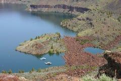 铁罐契努克族湖 库存图片