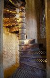 铁老楼梯 免版税库存照片