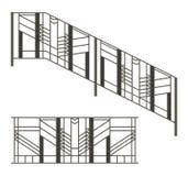铁范围和台阶用栏杆围 免版税库存图片