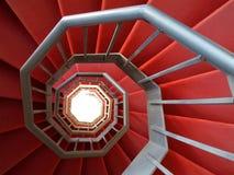 铁螺旋形楼梯  库存照片