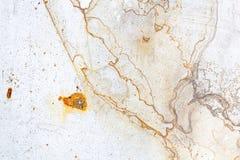 铁表面上的铁锈污点 免版税图库摄影