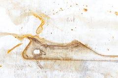 铁表面上的铁锈污点 免版税库存图片