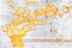 铁表面上的铁锈污点 库存图片