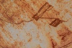 铁表面用老油漆,纹理背景报道 免版税库存照片