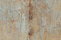铁表面,纹理背景上的切削的油漆 免版税库存图片
