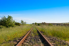 铁路乡下 库存图片