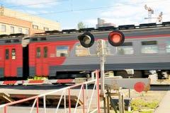 铁路交叉是闭合的 图库摄影