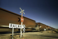铁路交叉 库存照片