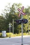 铁路交叉 免版税图库摄影