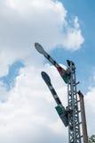 铁路信号杆 免版税库存照片