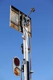 铁路信号 免版税库存图片