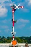 铁路信号 免版税库存照片