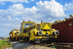 铁路修理动力设备 免版税库存图片