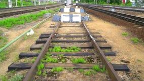 铁路僵局 路轨的末端 股票视频