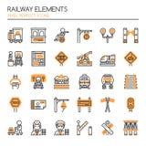 铁路元素 向量例证