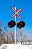铁路光 免版税库存图片