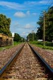 铁路农村跟踪 免版税图库摄影