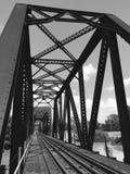 铁路叉架桥 免版税库存照片