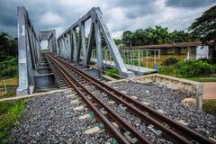 铁路和桥梁横穿 库存图片