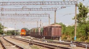 铁路和货车,商业运输概念 库存图片