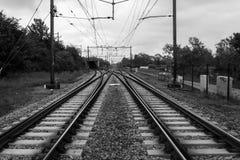 铁路在乌得勒支 库存图片