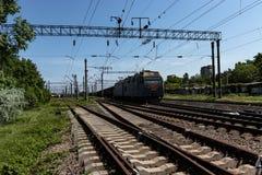 铁路在乡下 免版税图库摄影