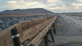 铁路在亚利桑那 图库摄影