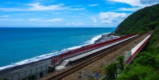 铁路在台湾 库存照片