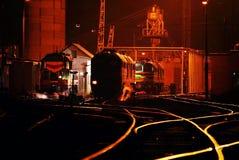 铁路在工业区 免版税库存图片