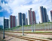 铁路在广州,中国 免版税库存图片