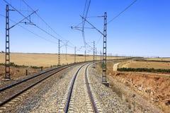 铁路在摩洛哥 免版税库存照片