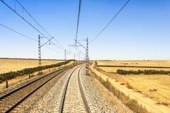 铁路在摩洛哥 库存图片