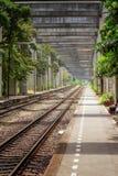 铁路在曼谷 库存图片