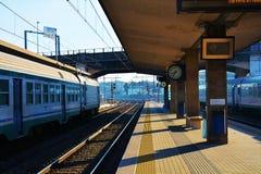 铁路在特雷维索 图库摄影
