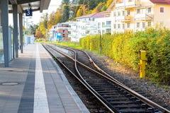 铁路在菲森,德国 库存图片
